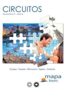 MapaTours Circuitos Catálogo de viajes 2016