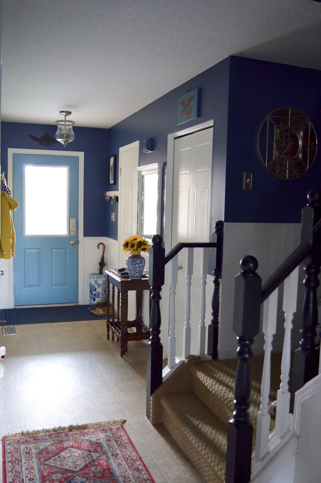 My Blue and White Foyer