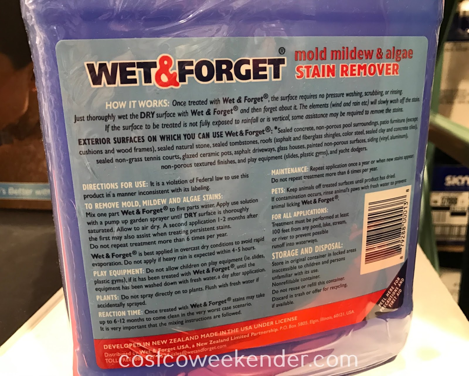 Costco 490976 - Wet & Forget Mold Mildew & Algae Stain Remover: great to have around your house