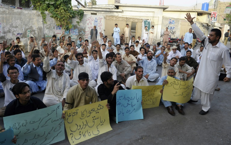 Previous bombings in the mainly Shiite Kurram tribal district have led to protests such as this one in Quetta in 2013