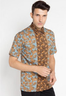 Model baju batik terbaru untuk pria trendy