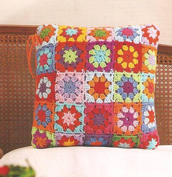 Patrón #1290: Almohadón Vintage a Crochet