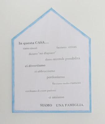 canvas a forma di casa
