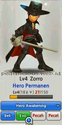 LostSaga Hero Evolution Zorro