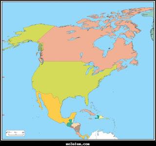 اطلس خرائط قارة امريكا الشمالية