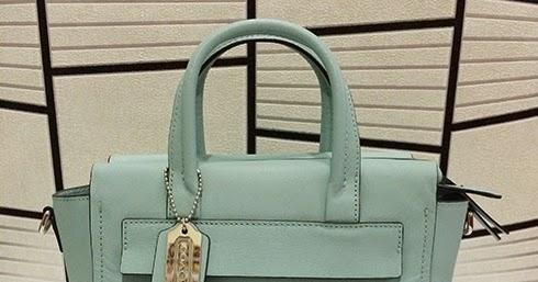 b7059f0592 Coach Bleecker Mini Riley Carryall In Saffiano Leather  30146 - Duck Egg  Blue