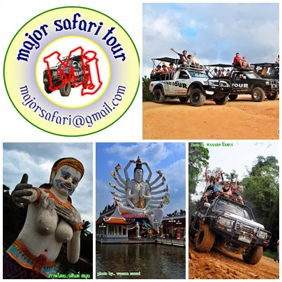 Major Safari Tour Amazing trip to visit all important places in Koh Samui in 1 day with 4x4 jeep Se