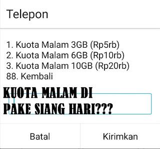 Cara Mengubah Kuota Malam Menjadi Siang Telkomsel, Indosat Dan Tri