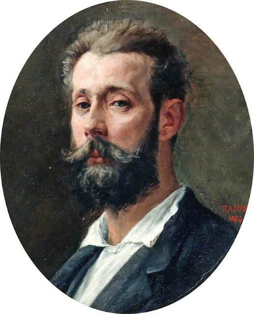 Paul Adolphe Rajon, Self Portrait, Portraits of Painters, Paul Adolphe, Fine arts, Portraits of painters blog, Paintings of Paul Adolphe, Painter Paul Adolphe