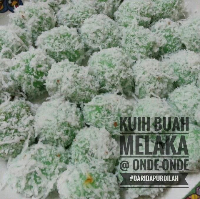 Resepi :: Kuih Buah Melaka @ Onde-onde Mudah dan Sedap