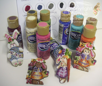 easter bunny pins supplies