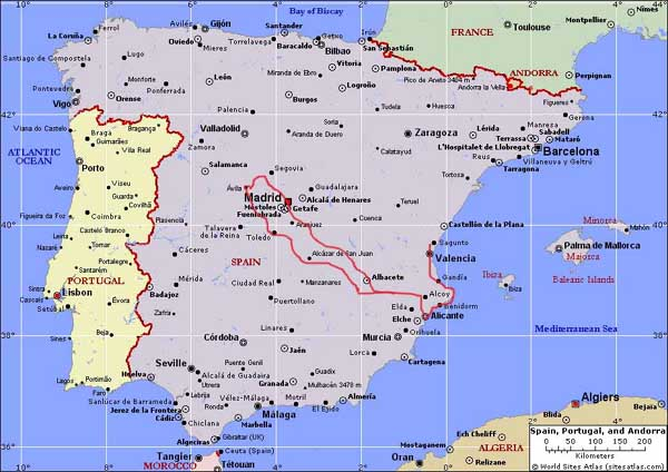 karta av spanien Karta över Spanien Regionen | Karta över Sverige, Geografisk  karta av spanien