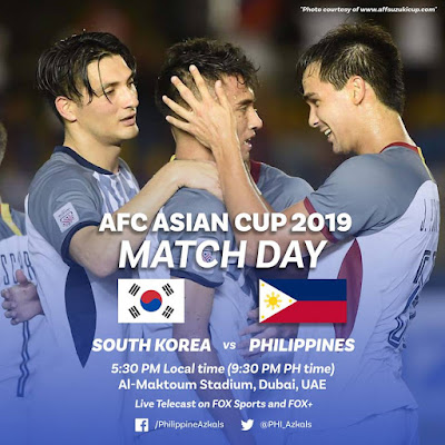 Live Streaming South Korea vs Philippines AFC 2019 (7.1.2019)