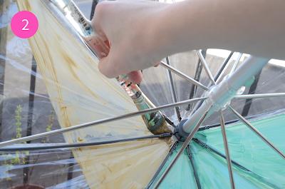 Tutorial: DIY Easy Geometric Painted Umbrella