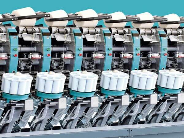 Cone winding machine used in textile sector