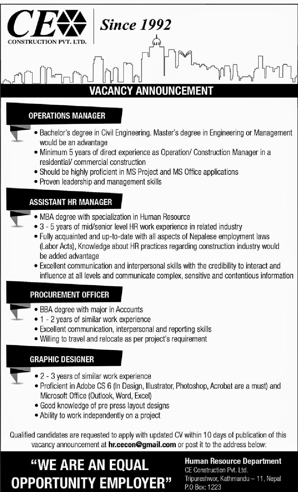Job News Nepal: Vacancy at
