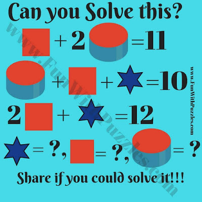 Geometric Shapes Math Equations Riddle