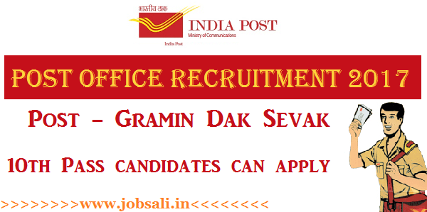 India Post Recruitment, Postal jobs, Post office Gramin dak sevak jobs