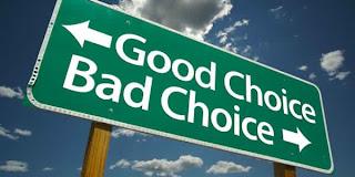 good choice bad choice sign