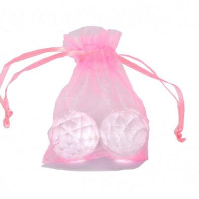 Woreczek z organzy różowy