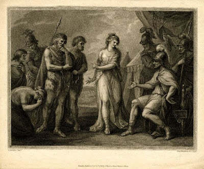 Caractacus delivered to Ostorius by Cartimandua - Print by Francesco Bartolozzi 1781 - 1797