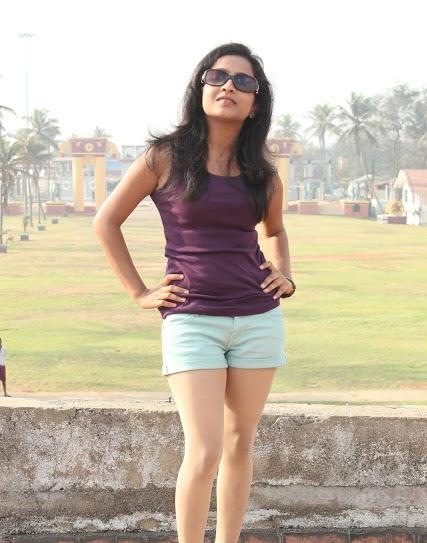 Prithishka mythili in shorts