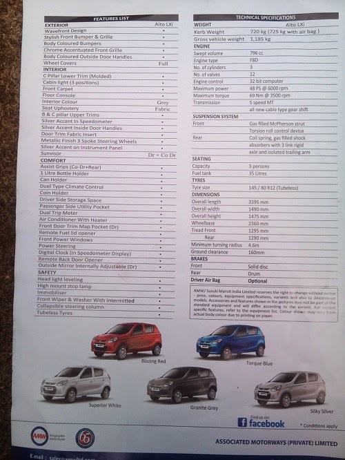 ai new alto 800cc car prices in srilanka after budget. Black Bedroom Furniture Sets. Home Design Ideas