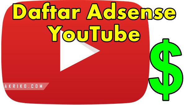Daftar Akun Google Adsense Youtube