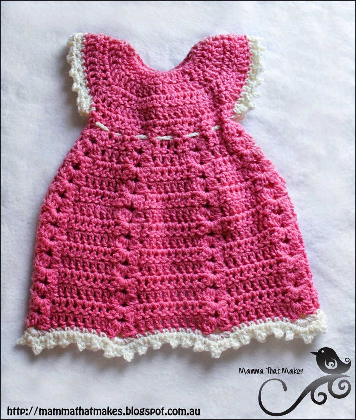 Free Baby Crochet Pattern Dress And Bolero : Mamma That Makes: Sophia Gown - Free Crochet Pattern