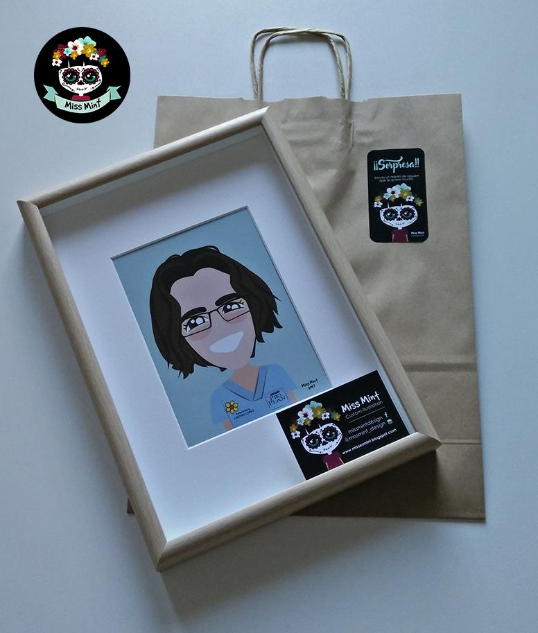 ilustraciones personalizadas miss mint regalo original para veterinaria