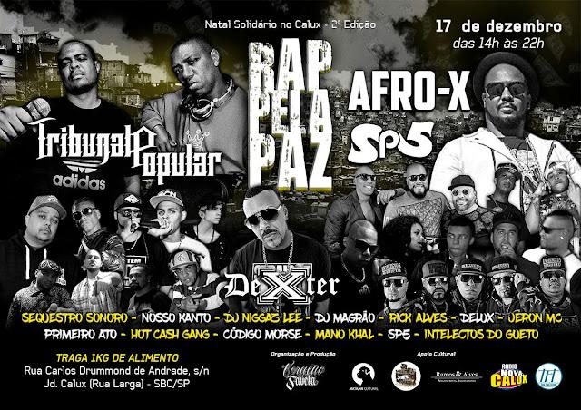Natal Solidário traz show de Afro X e Dexter, fundadores do histórico 509-E