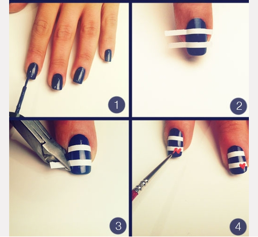 Simple Nail Art Step by Step InstructionSimple Nail Art Step By Step