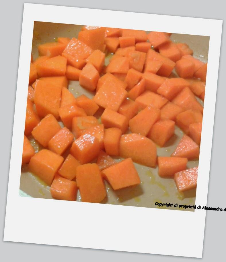 preparazione risotto zucca