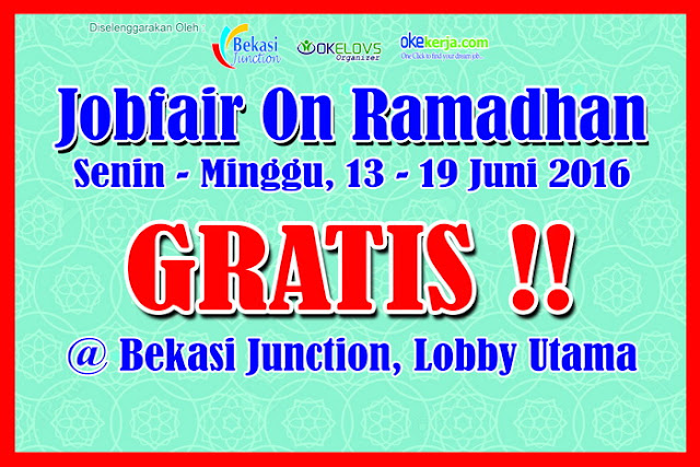 Job fair on Ramadhan Bekasi Junction