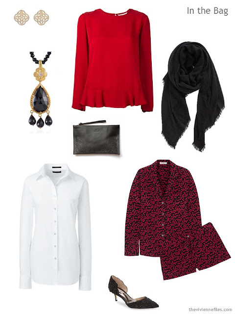What to pack for overnight, in black, white and red