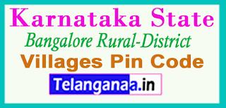 Bangalore Rural District Pin Codes in karnataka State