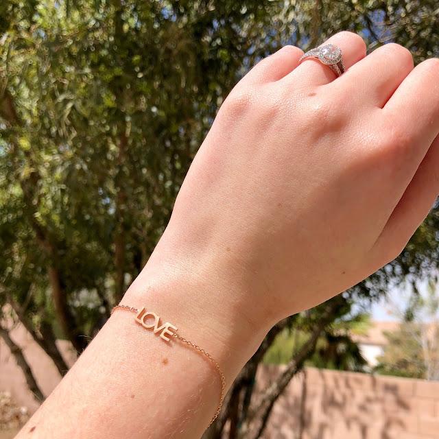 FabFitFun Spring Box 'Love' bracelet from Maya Brenner