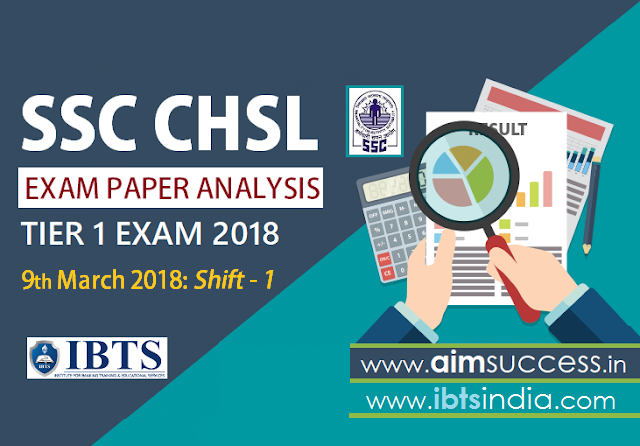 SSC CHSL Tier-I Exam Analysis 9th March 2018 Shift - 1