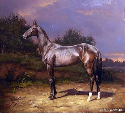 caballos-pintura-realista-pura-sangre-imagenes-caballos