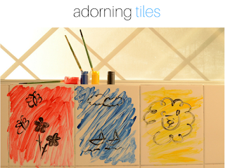 Got Bored Kids? 17 Practical Mom Ideas to try right away! Adorning Bathroom Tiles