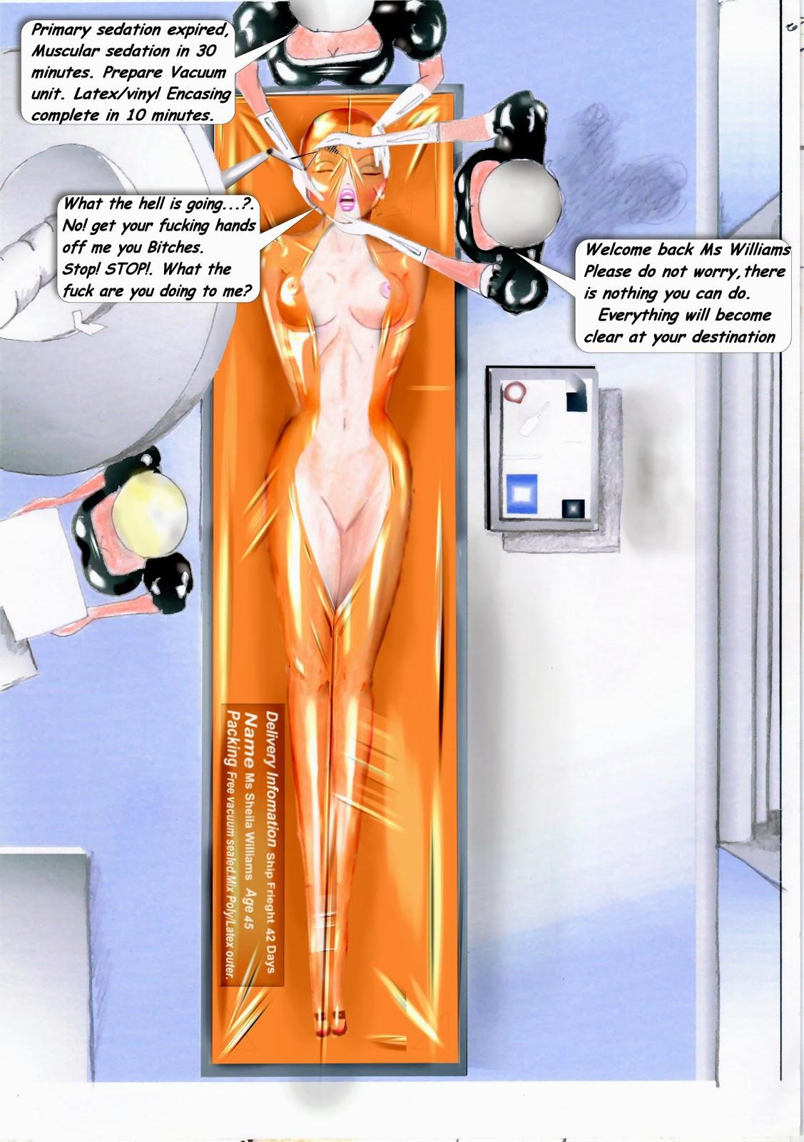 Vacuum bed bondage cartoon
