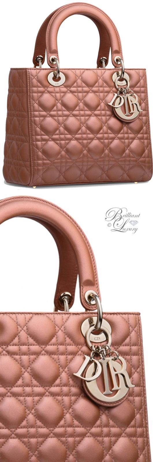 Brilliant Luxury ♦ Dior Lady Dior 'Quartz Pearlised Lambskin' Bag