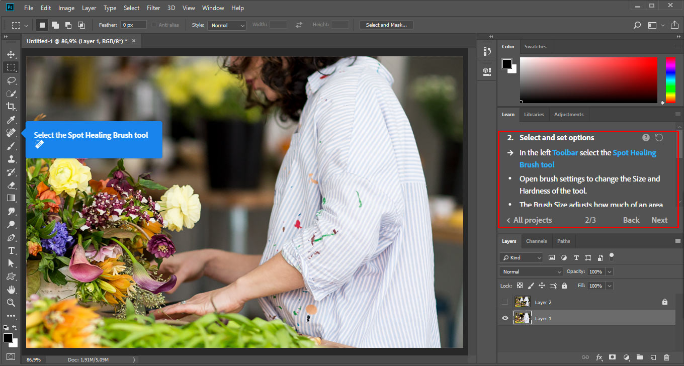 Photoshop actions mini course part 1 designeasy pop ups on screen will guide you through entire process baditri Images