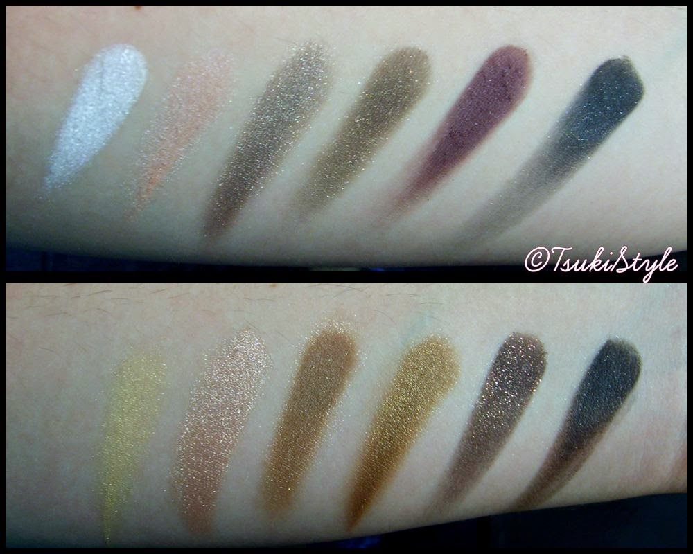 swatches nude tude the balm, tsuki style makeup