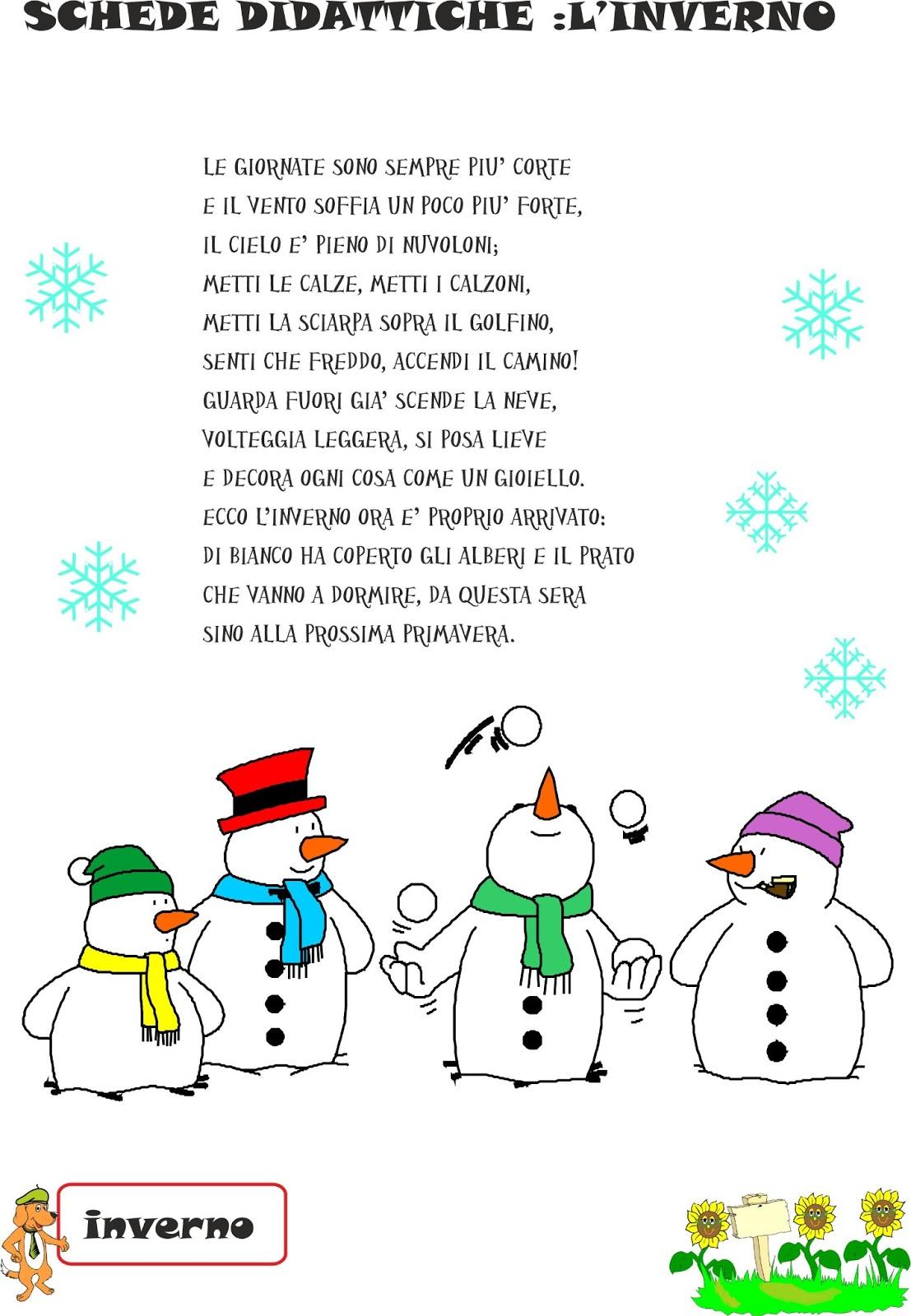Molto A Scuola con Poldo: Schede didattiche inverno N°2 MT09