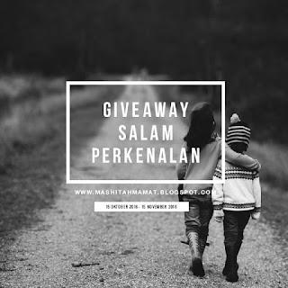 Giveaway Salam Perkenalan By Mashitah Mamat
