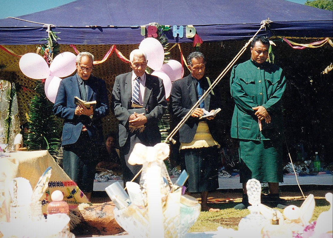 At this Tongan feast, there were also speeches from local preachers