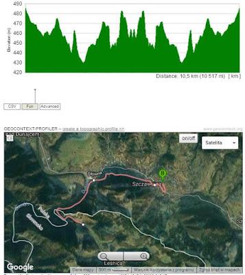Mapa trasy rowerowej do leśnicy