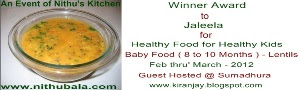 Winner of Healthy Baby Food Lentils (8 to 10 Months)