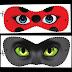 Máscaras de Miraculous Ladybug y Cat Noir para Imprimir Gratis.